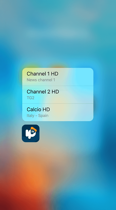 rIPTV iphone iptv 3d touch